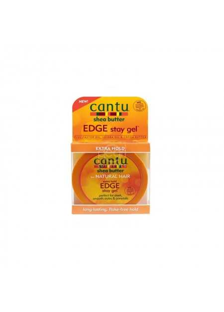 CANTU CARE SHEA BUTTER FOR NATURAL HAIR EXTRA HOLD EDGE STAY GEL 64 G