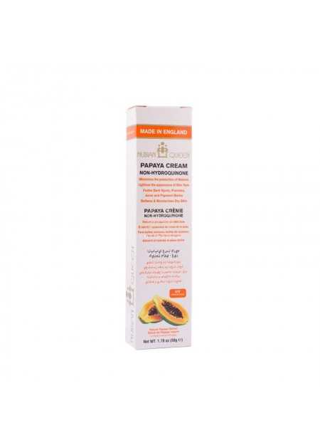 NUBIAN QUEEN PAPAYA FADE CREAM SKIN BRIGHTENERS NATURAL 50 G