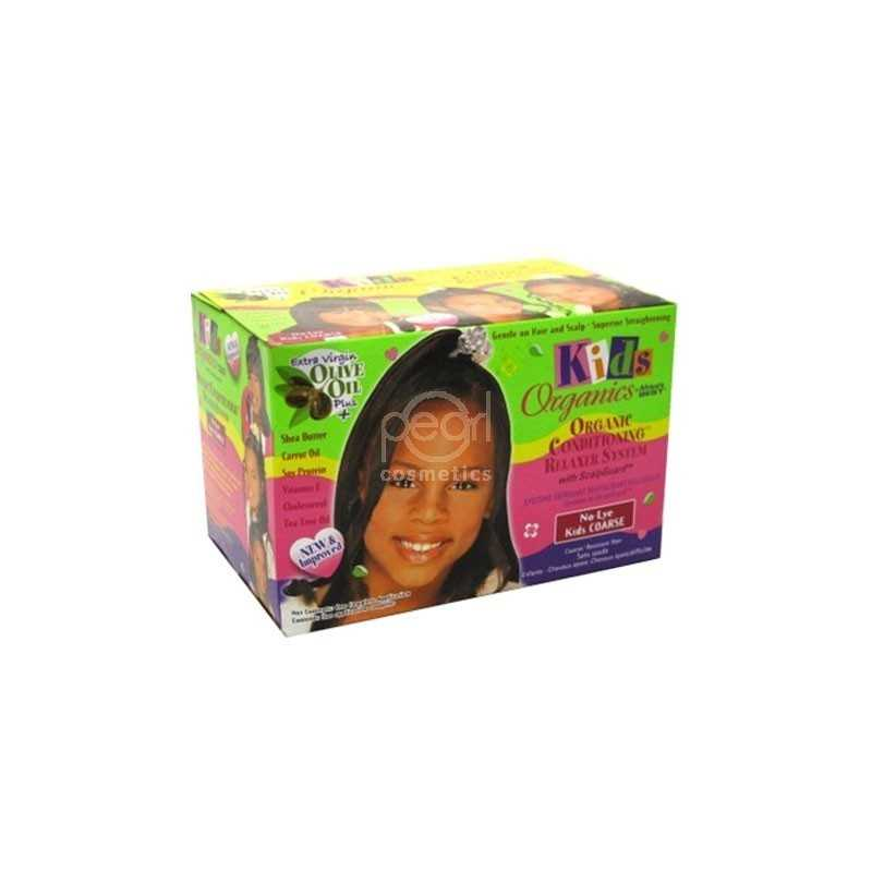 AFRICA'S BEST ORGANICS CONDITIONING RELAXER SYSTEM NO-LEY KIDS COARSE SUPER