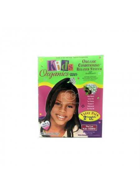 AFRICA'S BEST KIDS ORGANIC CONDITIONING RELAXER SYSTEM TWIN PACK SUPER