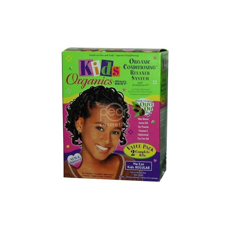 AFRICA'S BEST KIDS ORGANIC CONDITIONING RELAXER SYSTEM TWIN PACK REGULAR