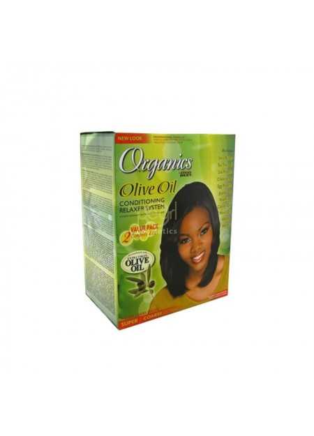 AFRICA'S BEST ORGANIC OLIVE OIL CONDITIONING RELAXER SYSTEM TWIN PACK SUPER