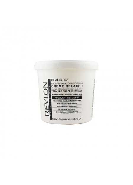 REVLON REALISTIC NO-BASE CONDITIONING CREME RELAXER REGULAR 1.7 KG