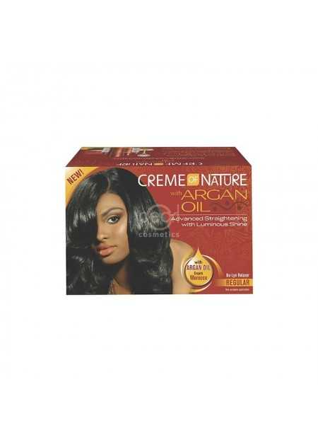 CREME OF NATURE ARGAN OIL NO-LYE RELAXER KIT REGULAR