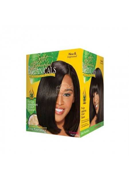SOFT & BEAUTIFUL BOTANICALS NO-LYE SENSITIVE SCALP RELAXER COURSE SUPER