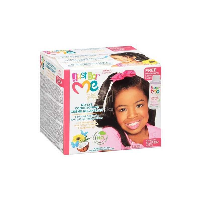 JUST FOR ME NO-LYE CONDITIONING CREME RELAXER KIT SUPER