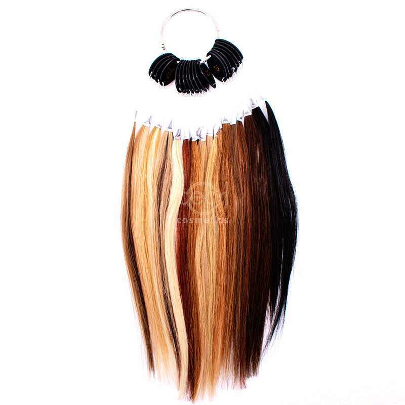 Professional hairdresser color ring color chart for human hair extensions