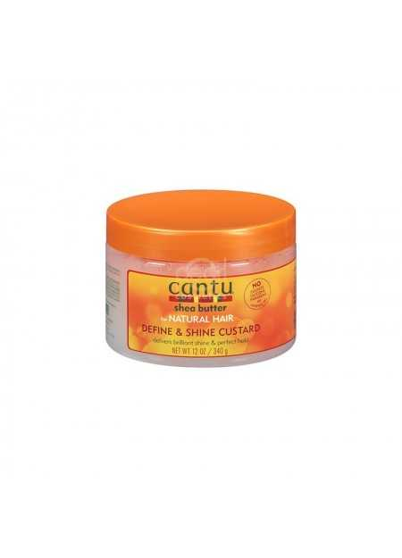 CANTU CARE SHEA BUTTER FOR NATURAL HAIR DEFINE & SHINE CUSTARD 340 G