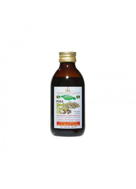 NUBIAN QUEEN PURE BLACK CASTOR OIL PROMOTES HAIR GROWTH 200 ML