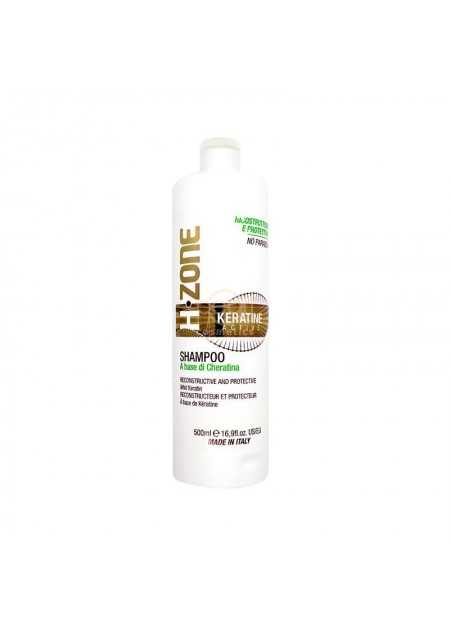 H.ZONE SHAMPOO WITH KERATINE ACTIVE 500 ML